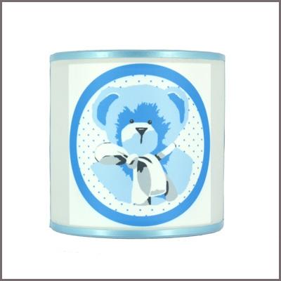 Abat jour ou Suspension ours bleu personnalisable