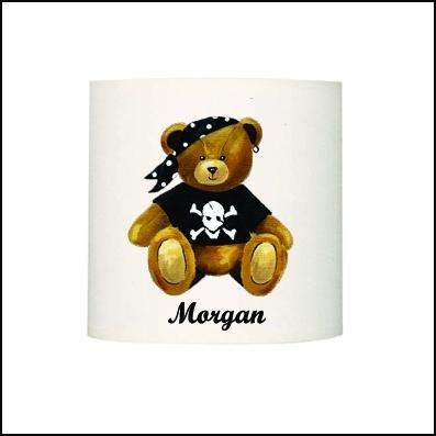 Abat jour ou suspension ours pirate Morgan personnalisable