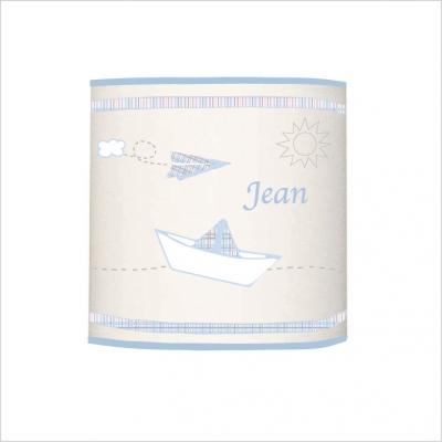 Abat jour ou suspension Petit Jean blanc cylindrique