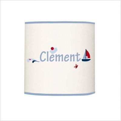 Abat jour ou suspension prénom Clément cylindrique