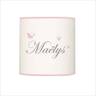Abat jour ou suspension prénom Maëlys cylindrique