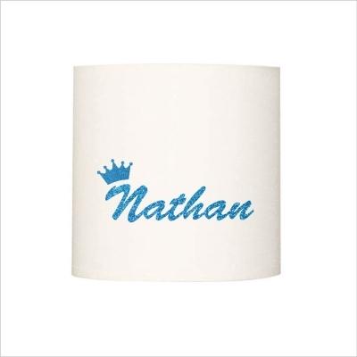 Abat jour ou suspension prénom NATHAN pailleté
