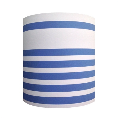 Abat jour ou Suspension rayures marine blanc bleu personnalisable