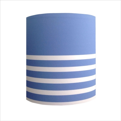 Abat jour ou Suspension rayures marine bleu blanc personnalisable