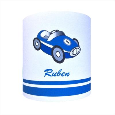 Abat jour ou Suspension voiture bleue personnalisable