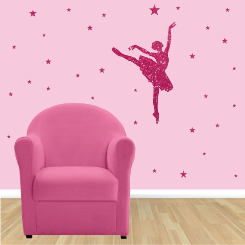 Stickers paillete danseuse et etoiles