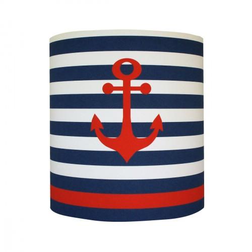 Abat jour ou Suspension ancre marine rouge personnalisable
