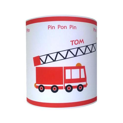 Applique camion pompier personnalisable