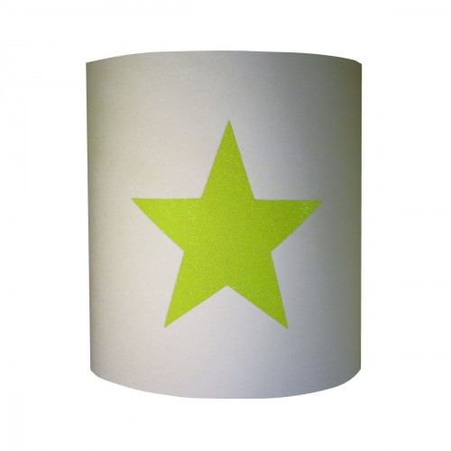 Applique étoile fluo pailleté personnalisable