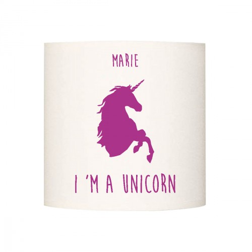 Applique lumineuse I'm a unicorn violet personnalisable