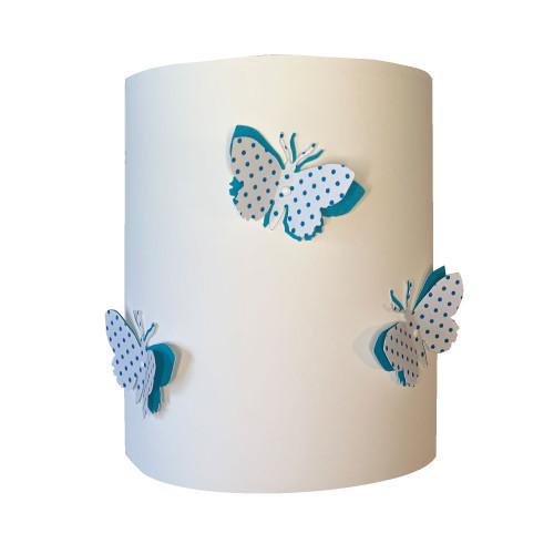Applique papillons 3D liberty Pois bleu