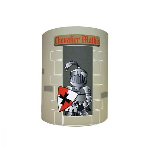 Abat jour ou Suspension chevalier à la tour personnalisable