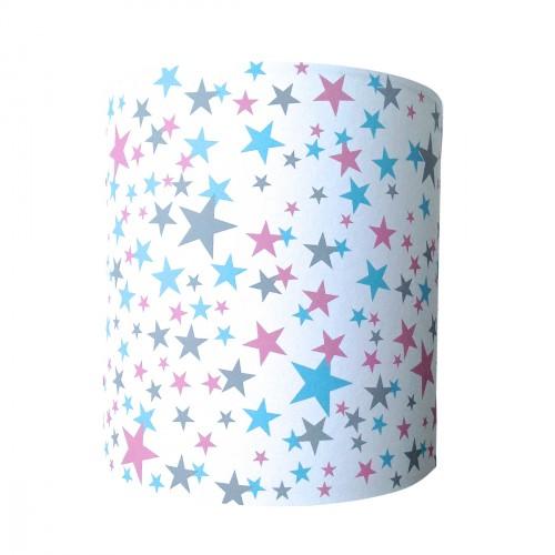 Applique étoiles origami bleues roses et grises