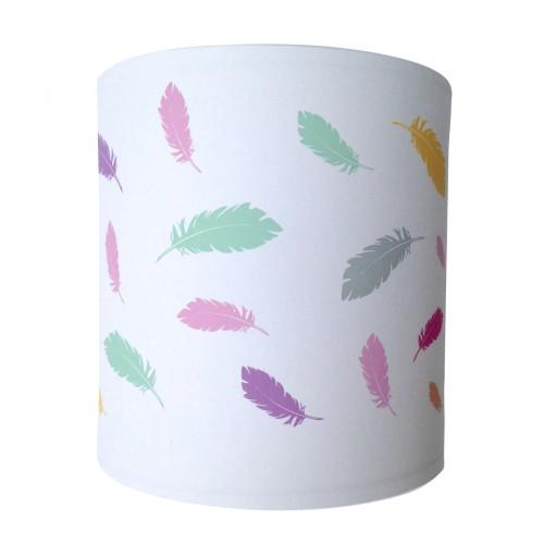 Applique plumes multicolores personnalisable
