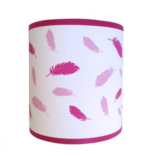Applique plumes roses personnalisable