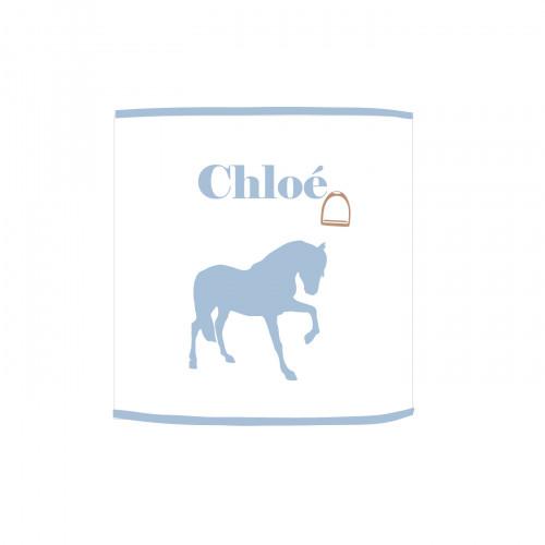 Applique lumineuse cheval bleu ciel