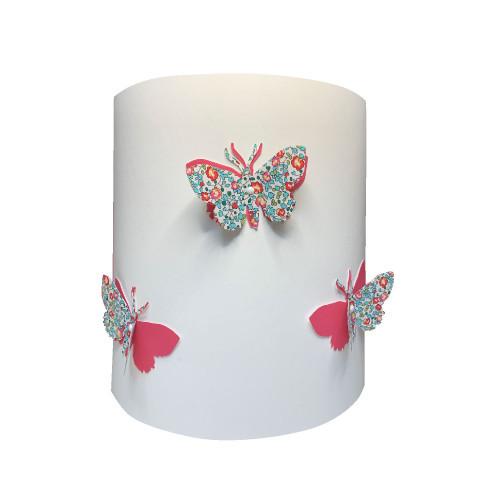 Applique papillons 3D liberty Eloise aile rose