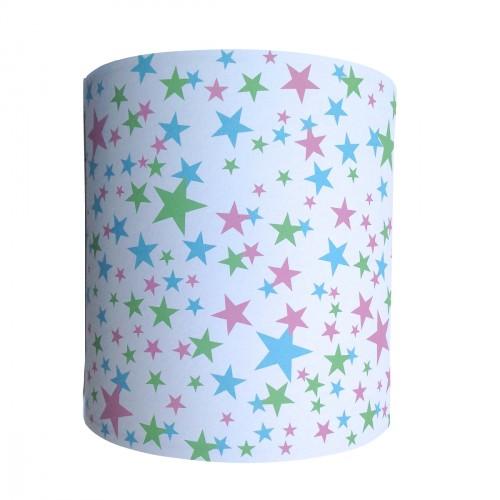 Applique étoiles origami bleues roses et vertes