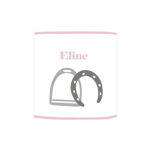 Applique lumineuse fer à cheval rose et gris