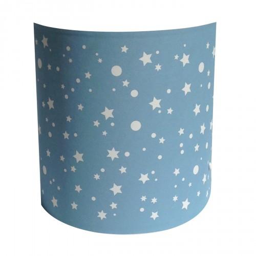 Abat jour ou suspension cylindrique étoiles de la galaxie bleu ciel