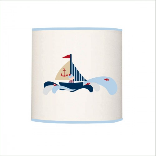 Applique lumineuse bateau et petit marin