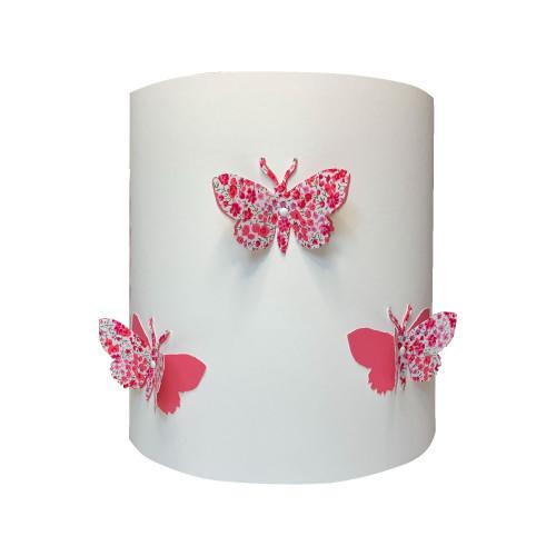 Applique papillons 3D liberty Phoebe aile rose