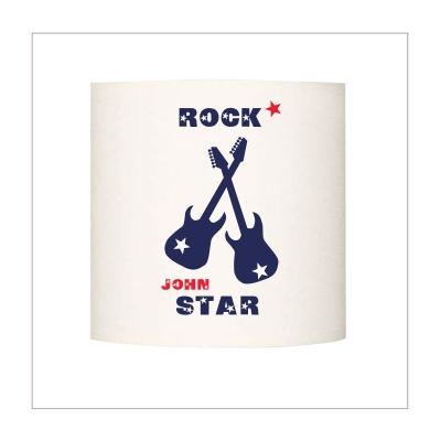 Applique  guitares rock star bleu personnalisable