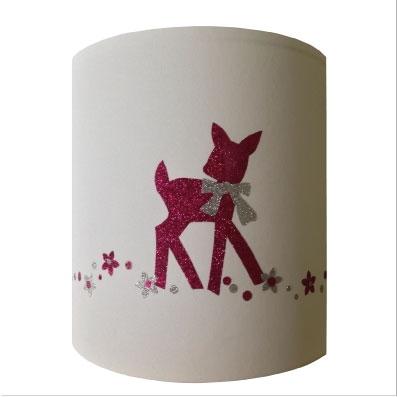 Applique bambi rose pailleté personnalisable