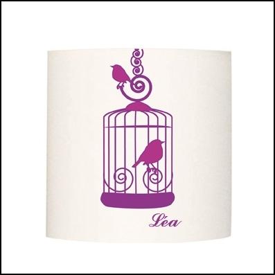 Applique cage à oiseaux personnalisable
