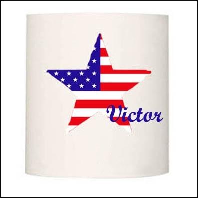 Applique etoile drapeau americain personnalisable