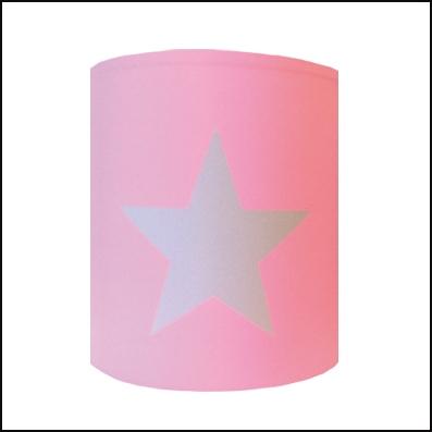 Applique sissi etoile grise fond rose pale | Lili Pouce : stickers ...