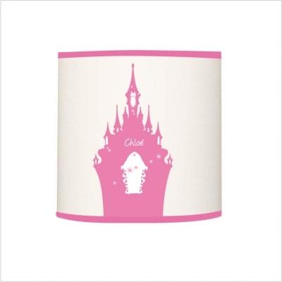 Applique lumineuse chateau rose