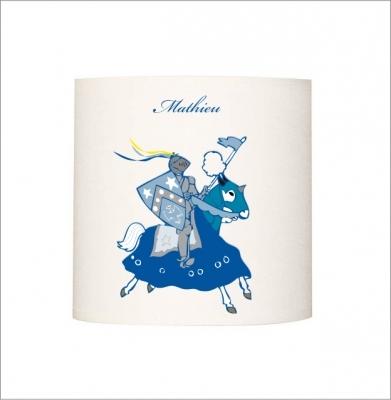 Applique lumineuse chevalier bleue
