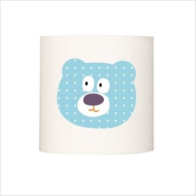 Applique lumineuse ours bleu à pois blanc