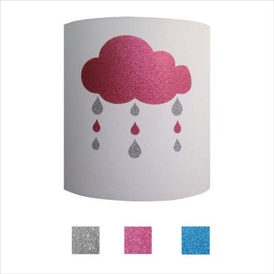Applique nuage et gouttes pailleté personnalisable