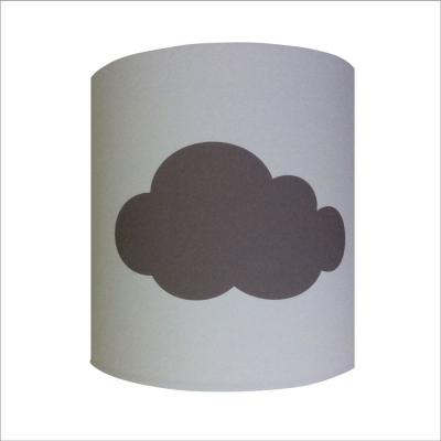 Applique nuage gris taupe fond blanc personnalisable