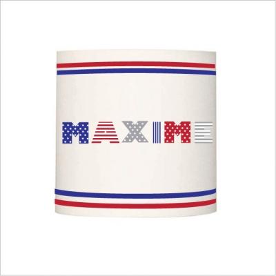 Applique prénom drapeau americain personnalisable