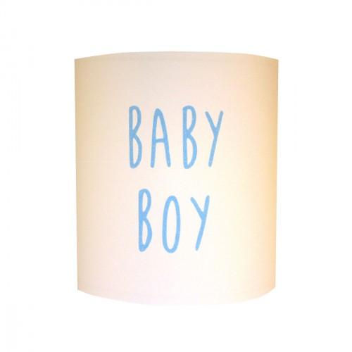 Abat jour ou suspension BABY BOY pailletée