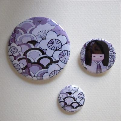 Badges assortis  kokeshi fille 5