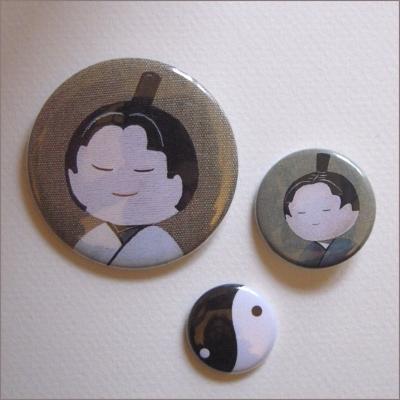 Badges assortis  kokeshi garçon 6