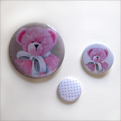 Badges assortis  ours fille 1