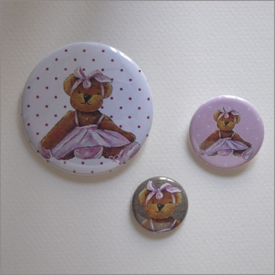 Badges assortis  ours fille 2