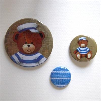 Badges assortis  ours garçon 5