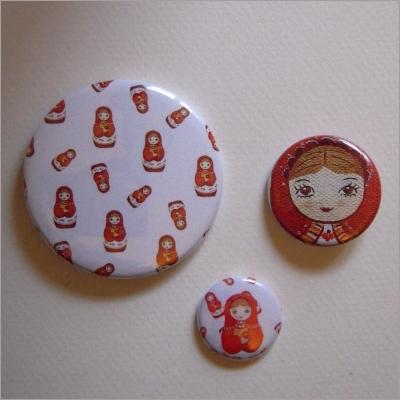 Badges assortis poupées russes 2