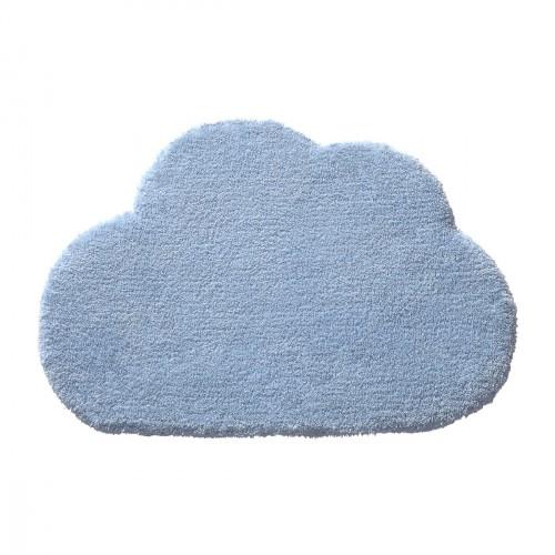 Tapis nuage Wunderwolke bleu en laine