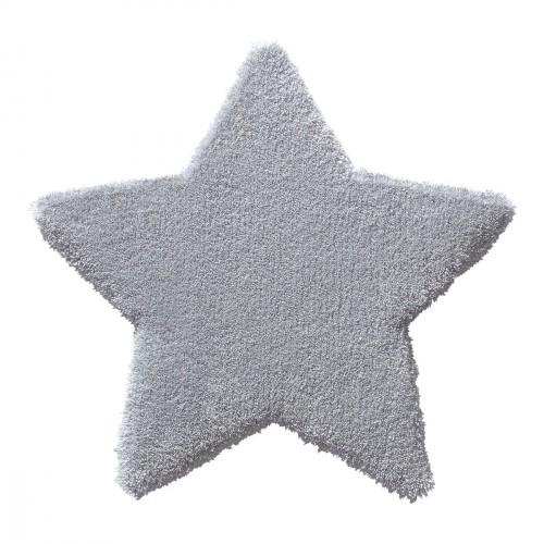 Tapis étoile Zauberstern grise en laine