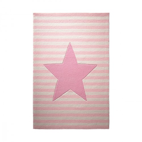 Tapis étoile My little star rose en laine