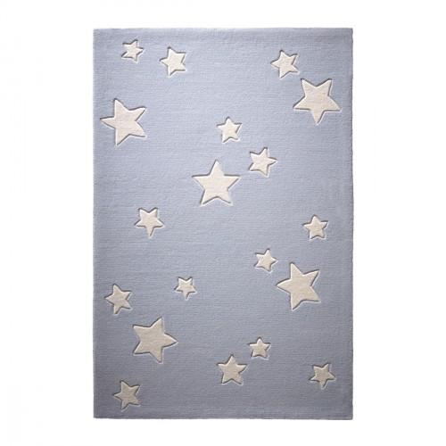 Tapis étoiles Sternenzelt gris en laine