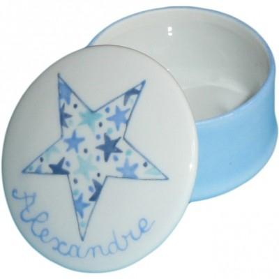 Boîte à dents étoile bleue personnalisable