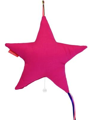 Boîte à musique étoile rose